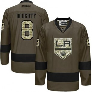 Drew Doughty Green Salute to Service Stitched Jersey - Los Angeles Kings #8 Clothing