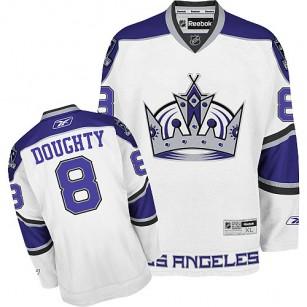 Reebok Los Angeles Kings #8 Drew Doughty White Third Premier Jersey For Sale Size 48/M|50/L|52/XL|54/XXL|56/XXXL