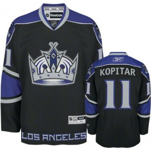Reebok Los Angeles Kings #11 Anze Kopitar Black Third Premier Jersey For Sale Size 48/M|50/L|52/XL|54/XXL|56/XXXL