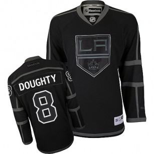 huge discount 9198a 0329f Reebok Los Angeles Kings #8 Drew Doughty Black Ice Authentic ...