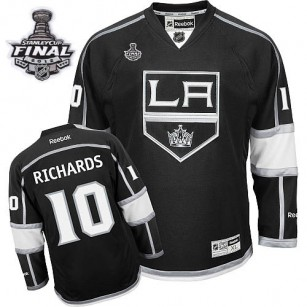 Reebok Los Angeles Kings #10 Mike Richards Black Home Premier With 2014 Stanley Cup Finals Jersey  For Sale Size 48/M 50/L 52/XL 54/XXL 56/XXXL