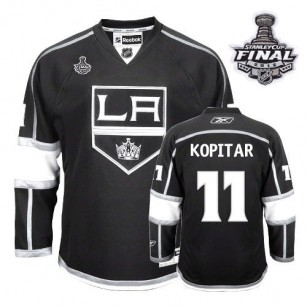 Youth Reebok Los Angeles Kings #11 Anze Kopitar Black Home Premier With 2014 Stanley Cup Finals Jersey  For Sale Size Small/Mediun|Large/Extra Large