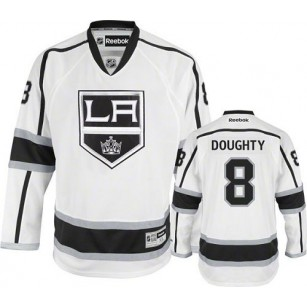Reebok Los Angeles Kings #8 Drew Doughty White Road Authentic Jersey  For Sale Size 48/M|50/L|52/XL|54/XXL|56/XXXL