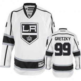 Reebok Los Angeles Kings #99 Wayne Gretzky White Road Premier Jersey  For Sale Size 48/M|50/L|52/XL|54/XXL|56/XXXL