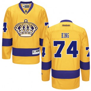 Dwight King Authentic Third Gold Jersey - Los Angeles Kings #74 Clothing