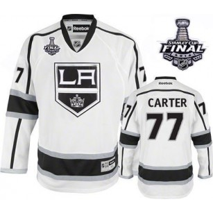 Los Angeles Kings #77 Jeff Carter Authentic White Away 2014 Stanley Cup Jersey Cheap Online 48|M|50|L|52|XL|54|XXL|56|XXXL