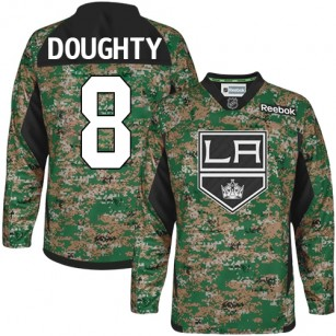 Youth Los Angeles Kings #8 Drew Doughty Camo Premier Veterans Day Practice Jersey Cheap Online S|M|L|XLLarge