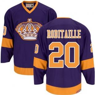 Los Angeles Kings #20 Luc Robitaille Premier Purple CCM Throwback Jersey Cheap Online 48 M 50 L 52 XL 54 XXL 56 XXXL