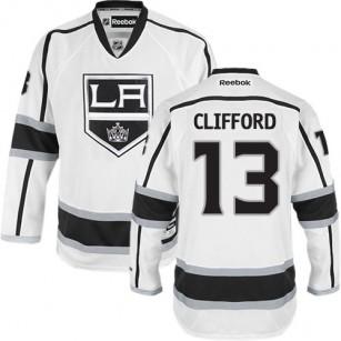 Los Angeles Kings #13 Kyle Clifford White Premier Away Jersey Cheap Online 48 M 50 L 52 XL 54 XXL 56 XXXL