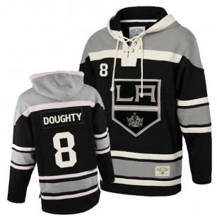 Old Time Hockey Los Angeles Kings #8 Drew Doughty Black Authentic Sawyer Hooded Sweatshirt Jersey Cheap Online 48|M|50|L|52|XL|54|XXL|56|XXXL