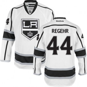 Los Angeles Kings #44 Robyn Regehr Authentic White Away Jersey Cheap Online 48|M|50|L|52|XL|54|XXL|56|XXXL