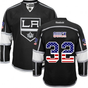 Jonathan Quick Authentic Black USA Flag Fashion Jersey - Los Angeles Kings #32 Clothing