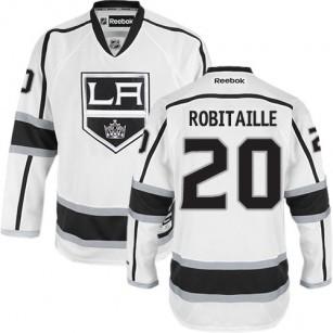 Los Angeles Kings #20 Luc Robitaille Premier White Away Jersey Cheap Online 48 M 50 L 52 XL 54 XXL 56 XXXL