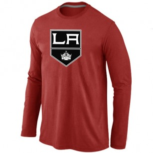 Los Angeles Kings Big & Tall Team Logo Red Long Sleeve T-Shirt Jersey Cheap For Sale