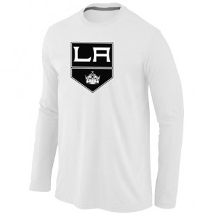 Los Angeles Kings Big & Tall Team Logo White Long Sleeve T-Shirt Jersey Cheap For Sale