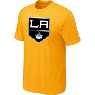 Los Angeles Kings Big & Tall Team Logo Yellow T-Shirt Jersey Cheap For Sale