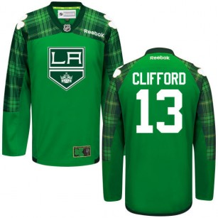 Kyle Clifford GreenSt. Patrick's Day Stitched Jersey - Los Angeles Kings #13 Clothing