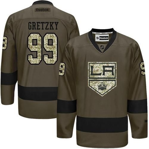 new arrival 828e3 5da5a Wayne Gretzky Green Salute to Service Stitched Jersey ...