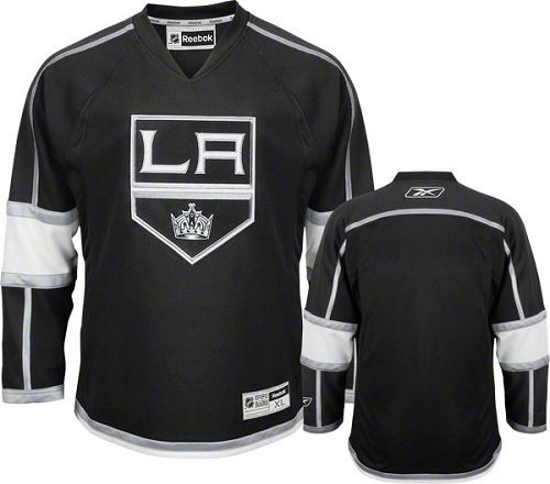 the latest a0af3 8bfc8 Reebok Los Angeles Kings Blank Black Home Authentic Jersey ...