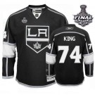 Reebok Los Angeles Kings #74 Dwight King Black Home Authentic With 2014 Stanley Cup Finals Jersey  For Sale Size 48/M|50/L|52/XL|54/XXL|56/XXXL
