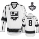 Reebok Los Angeles Kings #8 Drew Doughty White Road Authentic With 2014 Stanley Cup Jersey  For Sale Size 48/M|50/L|52/XL|54/XXL|56/XXXL