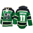 Old Time Hockey Los Angeles Kings #11 Anze Kopitar Green Authentic St. Patrick's Day McNary Lace Hoodie Jersey Cheap Online 48|M|50|L|52|XL|54|XXL|56|XXXL