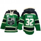 Old Time Hockey Los Angeles Kings #32 Jonathan Quick Green Authentic St. Patrick's Day McNary Lace Hoodie Jersey Cheap Online 48|M|50|L|52|XL|54|XXL|56|XXXL