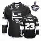 Los Angeles Kings #23 Dustin Brown Black Authentic Stanley Cup Home Jersey Cheap Online 48|M|50|L|52|XL|54|XXL|56|XXXL