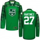 Alec Martinez St. Patrick's Day Stitched Jersey - Los Angeles Kings #27 Clothing