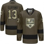 Kyle Clifford Green Salute to Service Stitched Jersey - Los Angeles Kings #13 Clothing