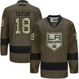 Dave Taylor Green Salute to Service Stitched Jersey - Los Angeles Kings #18 Clothing