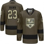 Dustin Brown Green Salute to Service Stitched Jersey - Los Angeles Kings #23 Clothing