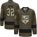 Jonathan Quick Green Salute to Service Stitched Jersey - Los Angeles Kings #32 Clothing