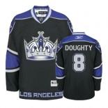 Reebok Los Angeles Kings #8 Drew Doughty Black Third Authentic Jersey