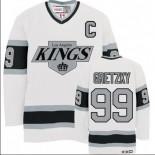 CCM Los Angeles Kings #99 Wayne Gretzky Premier White Throwback Jersey For Sale Size 48/M|50/L|52/XL|54/XXL|56/XXXL