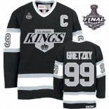 CCM Los Angeles Kings #99 Wayne Gretzky Authentic Black Throwback With 2014 Stanley Cup Finals Jersey For Sale Size 48/M|50/L|52/XL|54/XXL|56/XXXL