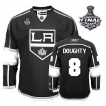 Reebok Los Angeles Kings #8 Drew Doughty Authentic Black Home With 2014 Stanley Cup Finals Jersey For Sale Size 48/M 50/L 52/XL 54/XXL 56/XXXL