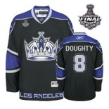 Reebok Los Angeles Kings #8 Drew Doughty Black Third Authentic With 2014 Stanley Cup Finals Jersey  For Sale Size 48/M|50/L|52/XL|54/XXL|56/XXXL