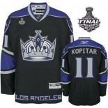 Reebok Los Angeles Kings #11 Anze Kopitar Black Third Authentic With 2014 Stanley Cup Finals Jersey For Sale Size 48/M|50/L|52/XL|54/XXL|56/XXXL