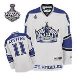 Reebok Los Angeles Kings #11 Anze Kopitar Premier White Third With 2014 Stanley Cup Finals Jersey For Sale Size 48/M|50/L|52/XL|54/XXL|56/XXXL