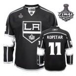 Reebok Los Angeles Kings #11 Anze Kopitar Premier Black Home With 2014 Stanley Cup Finals Jersey For Sale Size 48/M|50/L|52/XL|54/XXL|56/XXXL