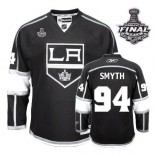 Reebok Los Angeles Kings #94 Ryan Smyth Premier Black Home With 2014 Stanley Cup Finals Jersey For Sale Size 48/M|50/L|52/XL|54/XXL|56/XXXL