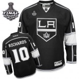 Reebok Los Angeles Kings #10 Mike Richards Black Home Authentic With 2014 Stanley Cup Finals Jersey  For Sale Size 48/M|50/L|52/XL|54/XXL|56/XXXL