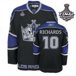 Reebok Los Angeles Kings #10 Mike Richards Black Third Premier With 2014 Stanley Cup Finals Jersey  For Sale Size 48/M|50/L|52/XL|54/XXL|56/XXXL