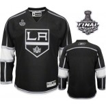 Reebok Los Angeles Kings Blank Black Home Authentic With 2014 Stanley Cup Finals Jersey  For Sale Size 48/M|50/L|52/XL|54/XXL|56/XXXL