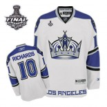 Reebok Los Angeles Kings #10 Mike Richards White Third Authentic With 2014 Stanley Cup Finals Jersey  For Sale Size 48/M|50/L|52/XL|54/XXL|56/XXXL