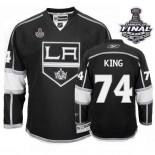 Reebok Los Angeles Kings #74 Dwight King Black Home Premier With 2014 Stanley Cup Finals Jersey  For Sale Size 48/M|50/L|52/XL|54/XXL|56/XXXL