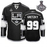Reebok Los Angeles Kings #99 Wayne Gretzky Black Home Authentic With 2014 Stanley Cup Finals Jersey  For Sale Size 48/M|50/L|52/XL|54/XXL|56/XXXL