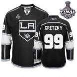 Reebok Los Angeles Kings #99 Wayne Gretzky Black Home Premier With 2014 Stanley Cup Finals Jersey  For Sale Size 48/M|50/L|52/XL|54/XXL|56/XXXL