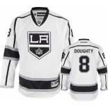 Reebok Los Angeles Kings #8 Drew Doughty White Road Authentic Jersey  For Sale Size 48/M|50/L|52/XL|54/XXL|56/XXXL